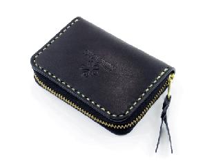 スモールコインパース ブラック (縫い糸ナチュラル)
