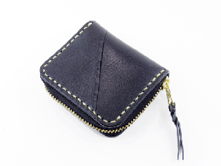 ミニコインパース アキャブ ブラック(縫い糸ナチュラル)