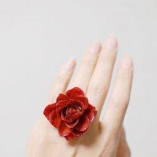 赤い薔薇の指輪・レッド