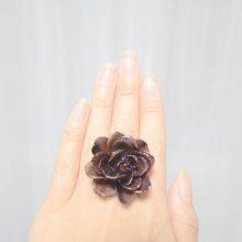 黒い薔薇の指輪・ブラック