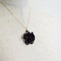 本物のバラのネックレス・ブラック