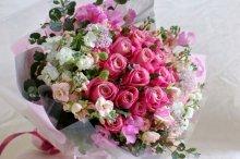 ピンクの花束オーダーメイド