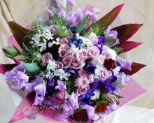 パープルの花束オーダーメイド