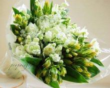 白い花束オーダーメイド