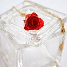 薔薇の蕾ネックレス・フレンチローズ(甚三紅)