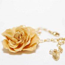 白いバラのブレスレット・アイボリー