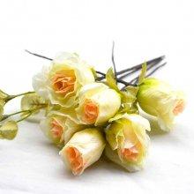 ヘッドドレス・薔薇6輪セット(イエロー×オレンジ)