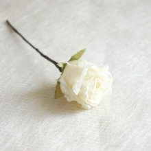 ヘッドドレス・ホワイト薔薇 6輪セット(送料無料)
