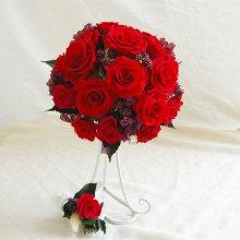 プリザーブドフラワー・ラウンドブーケ薔薇