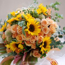 傘寿祝の花束・80歳の誕生日祝花
