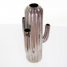 陶器製花器・サボテン(h32xφ8.5cm )