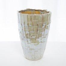 ケラミック花器・クリームパール(h30xφ17cm )