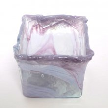 ガラス花器スクエア・リラ (h18x22x22 )