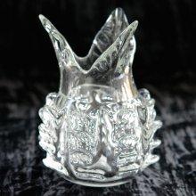 ガラス花器クリア・ パイナップル(h19 φ5.5)