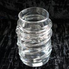 ガラスデコレーション花器・円形(h26xφ16)