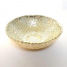 ガラスプレート・シャンパンゴールド (h6.5xφ18)