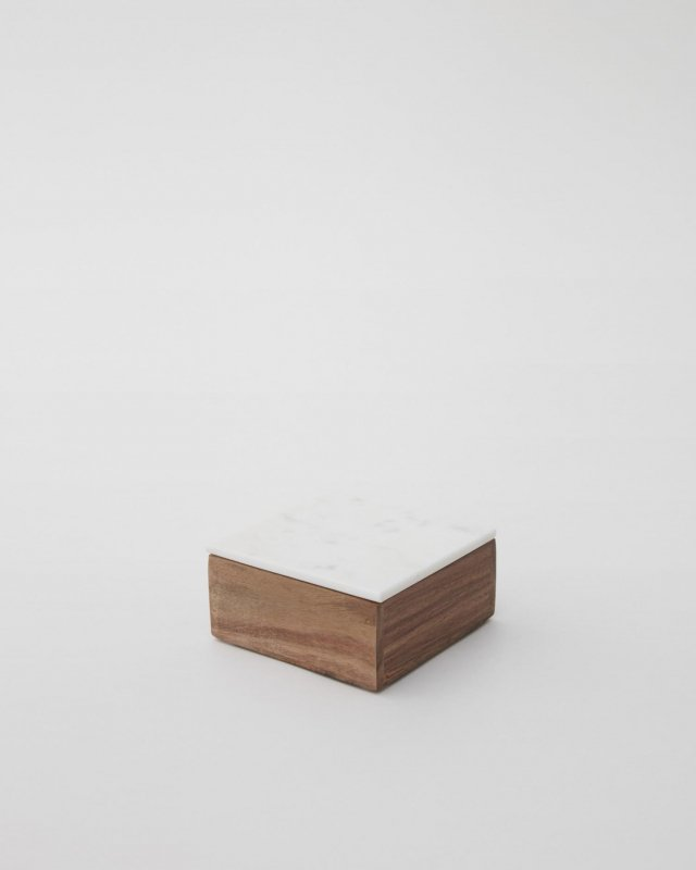 Nordstjerne  Wooden Box With Marble Lid - small