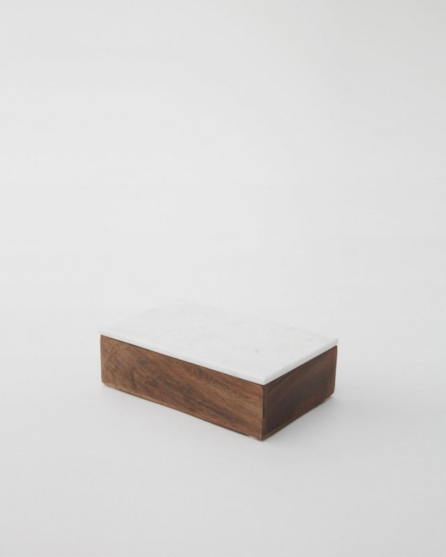 Nordstjerne  Wooden Box With Marble Lid - medium