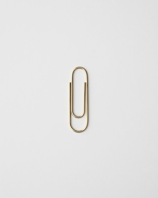 Carl Aubock  Paperclip - Polished Brass