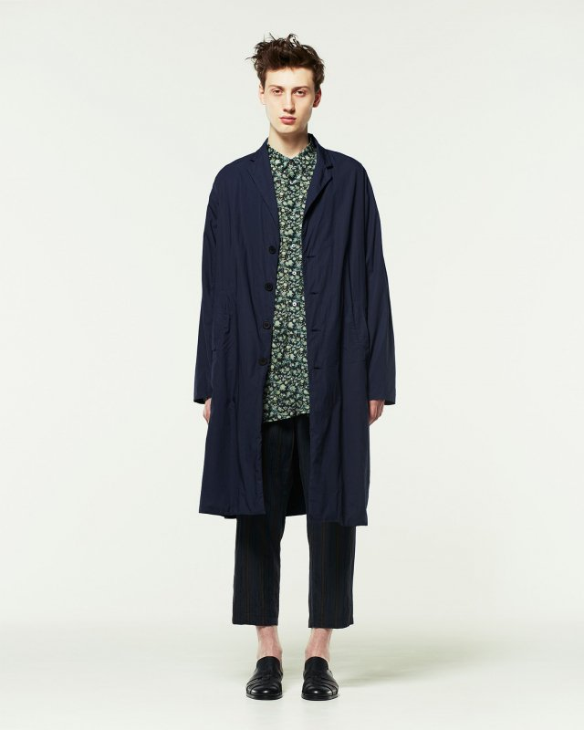 compact cotton lawn coat