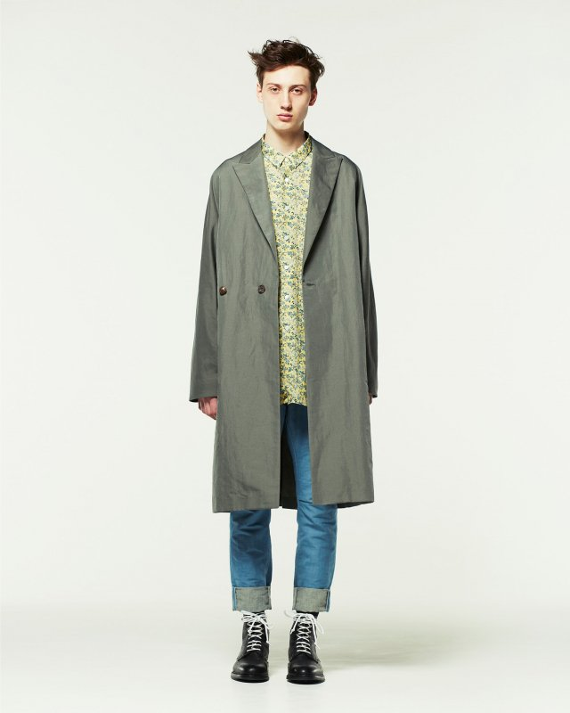 twill washer coat