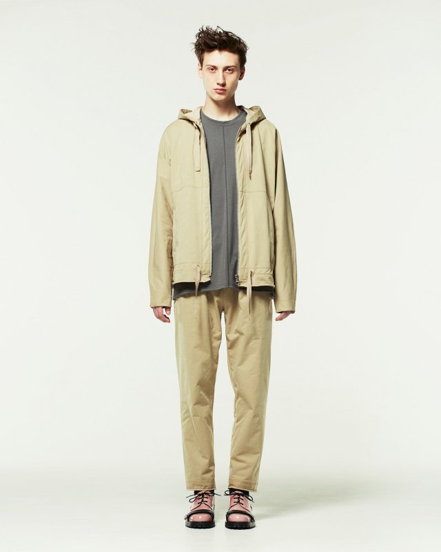 suede light terry parka