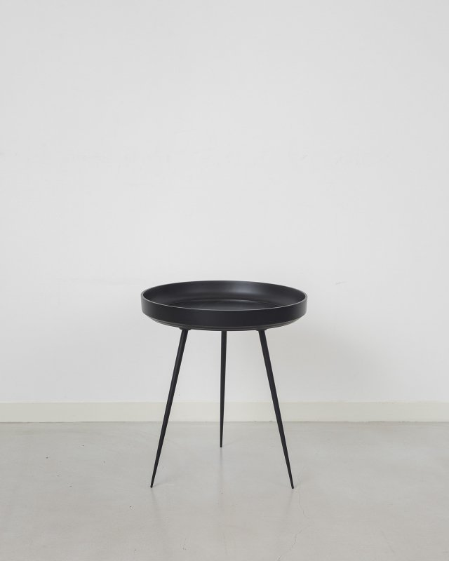 mater  Aluminium Bowl table - M Black