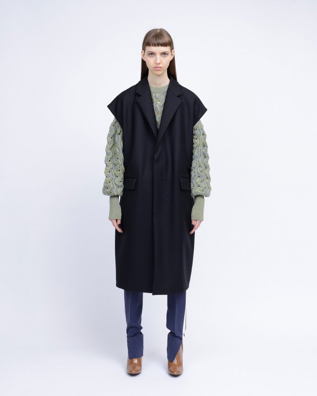 double cloth melton coat