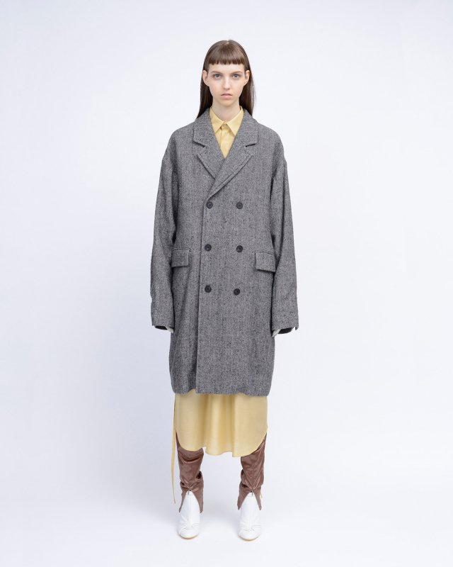 W/L nep herringbone coat