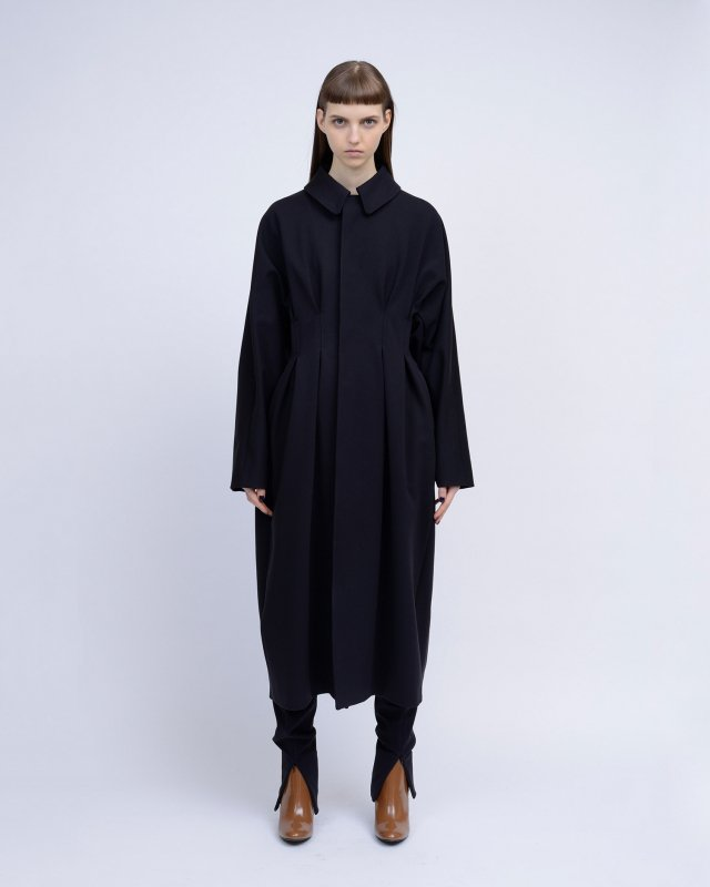 stretch heavy twill  coat