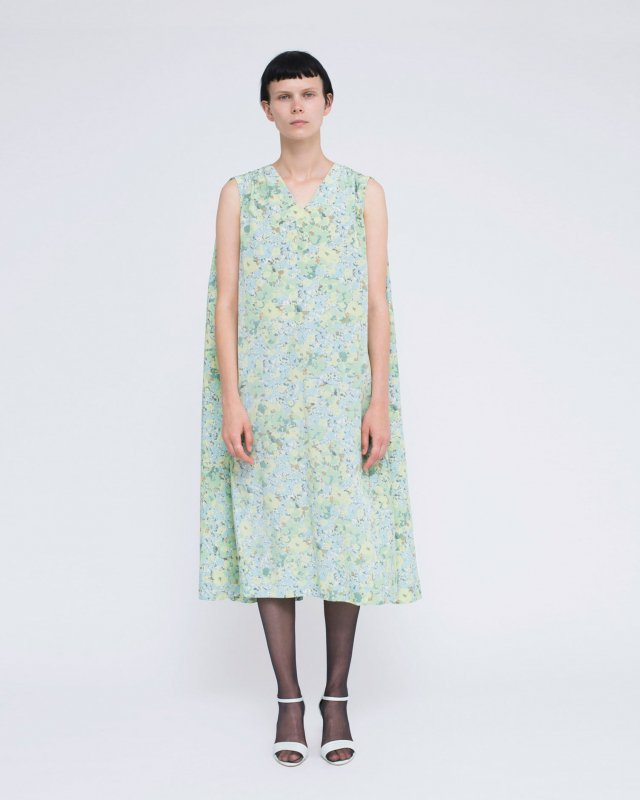 cupra cotton flower print dress