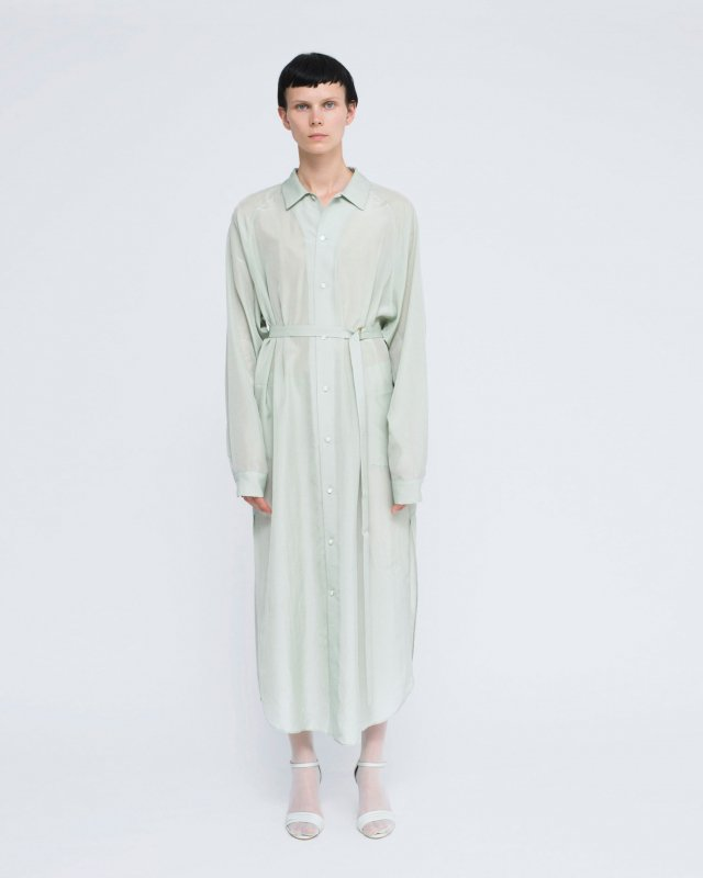 cupra silk taffeta shirt dress