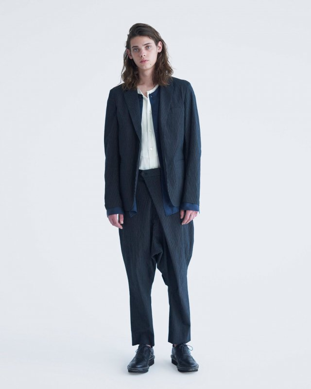 pinstripe stretch jacket