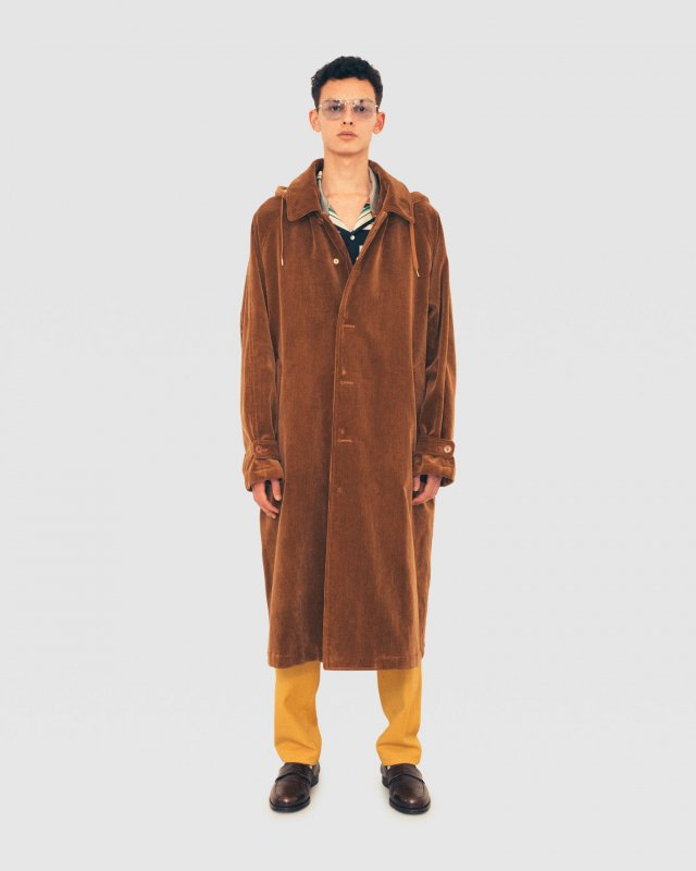 Corduroy Hooded Coat