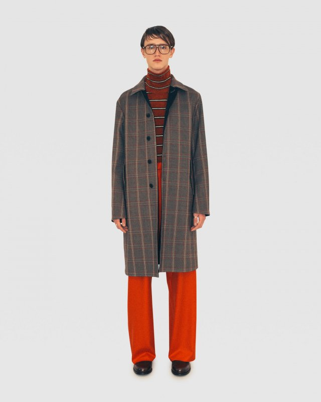 Super Stretch Check Overcoat