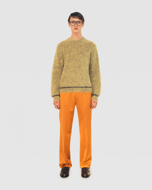 Melange Wool Crew-Neck