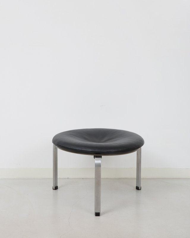 Poul Kjeaholm  Leather stool PK33