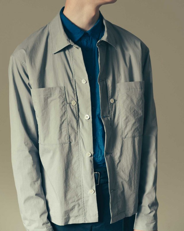 Bio stretch typewriter shirt blouson