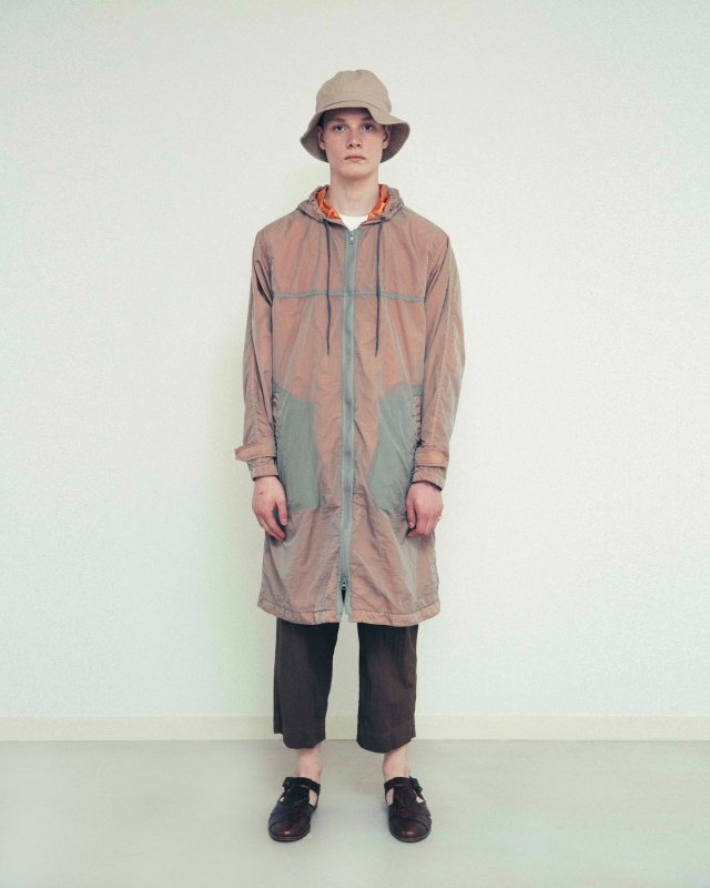 Sheer nylon garment dyed coat