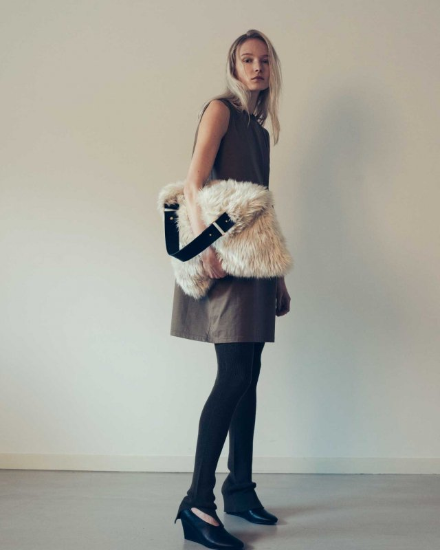 Rex eco fur tote bag
