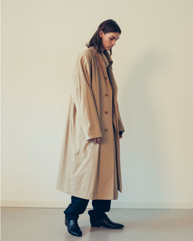 Cotton nylon Twill reversible 2face coat