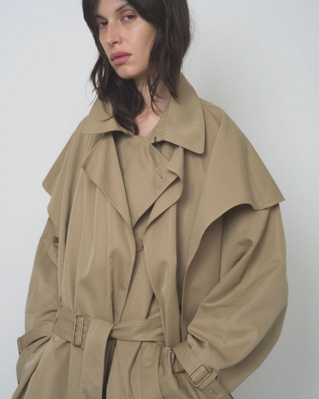 Supima cotton stole with trench coat