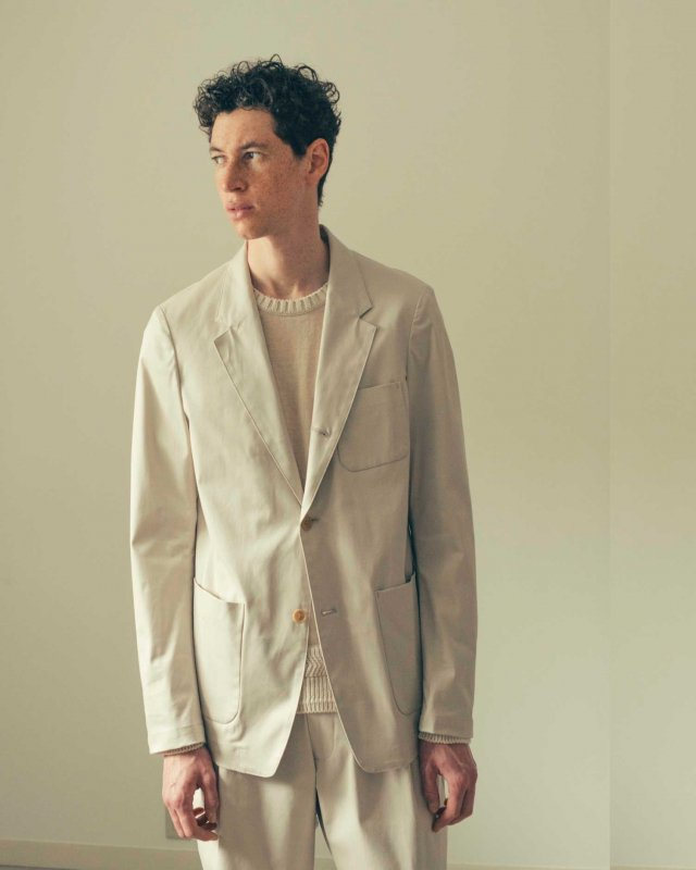 Supima cotton gaberdine jacket