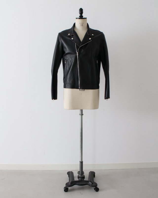Sheep two-tone leather jacket