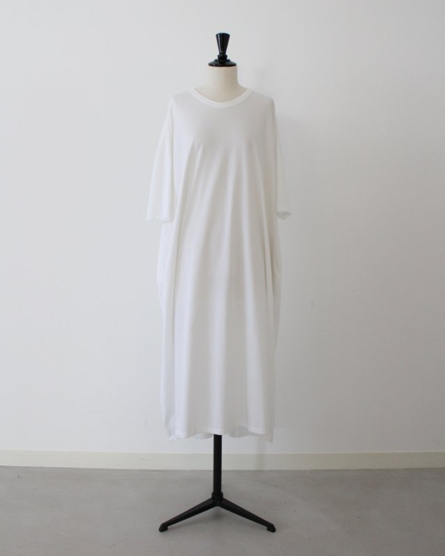 Lotus cross jersey crew long dress