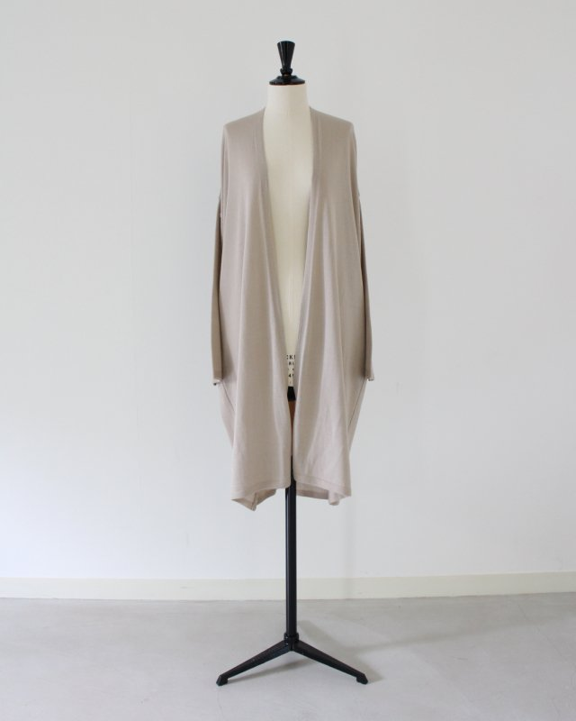 Luster wool long cardigan
