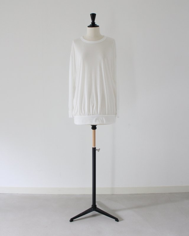 See-through jersey pullover