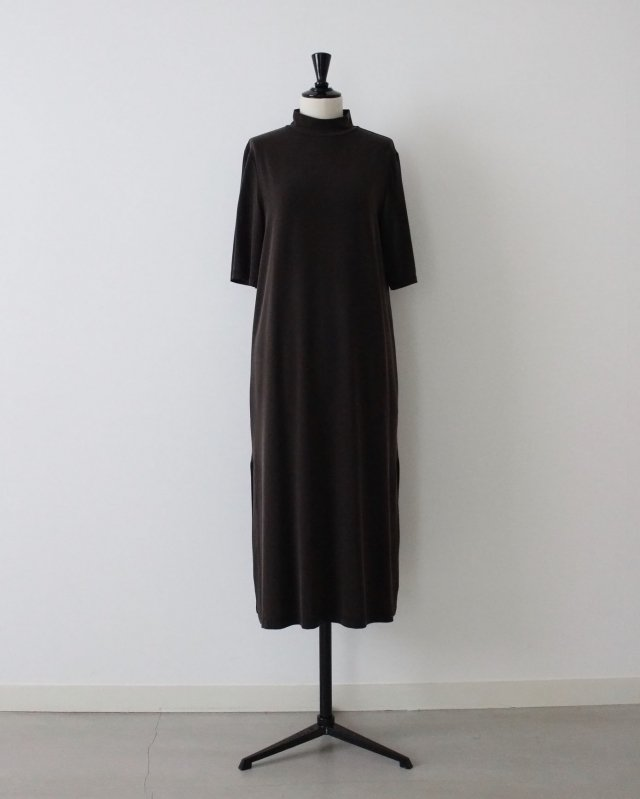 Vintage cupro Jersey slit dress