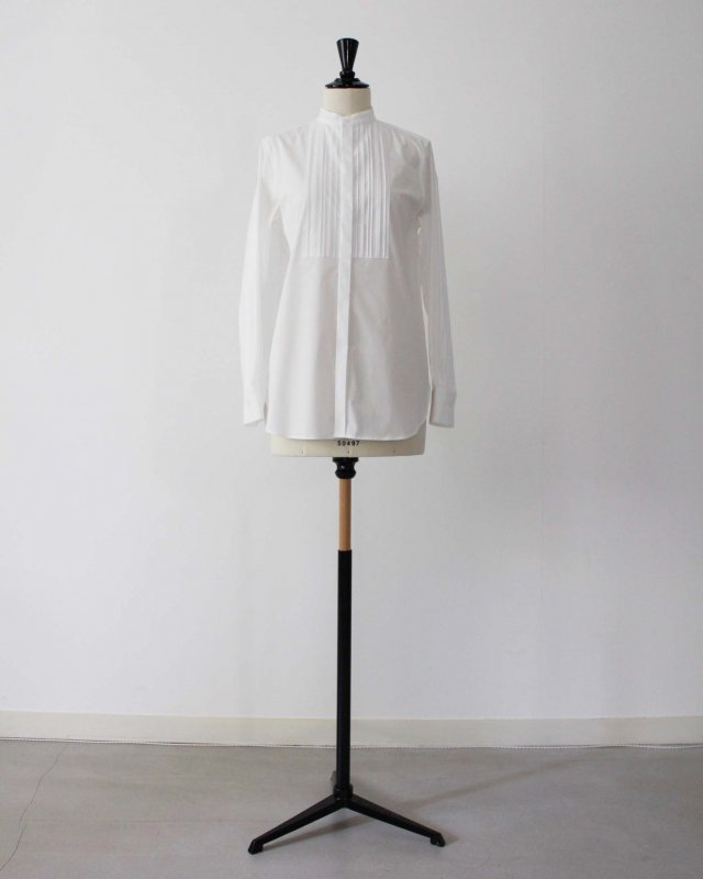 Supima cotton broad pin tuck shirt