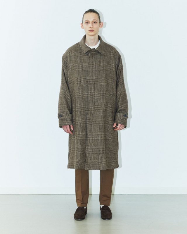 Lyria wool fulling glen check coat